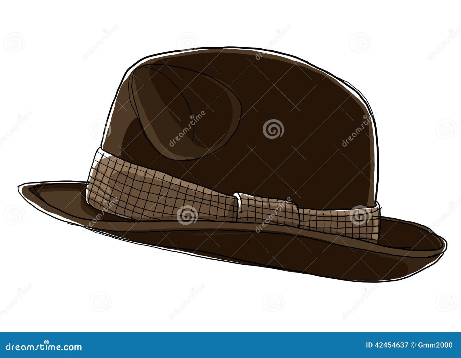 Das Brown-Hut Fedora der Männer