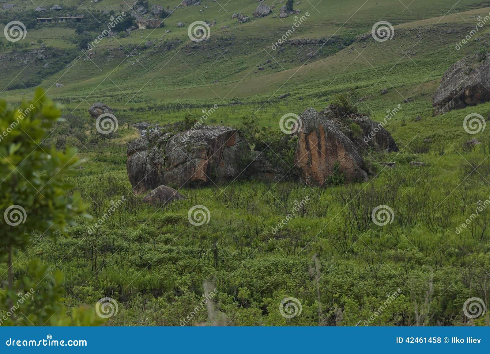 Das Bushmans River Valley im Giants-Schloss-Kwazulu Natal Naturreservat