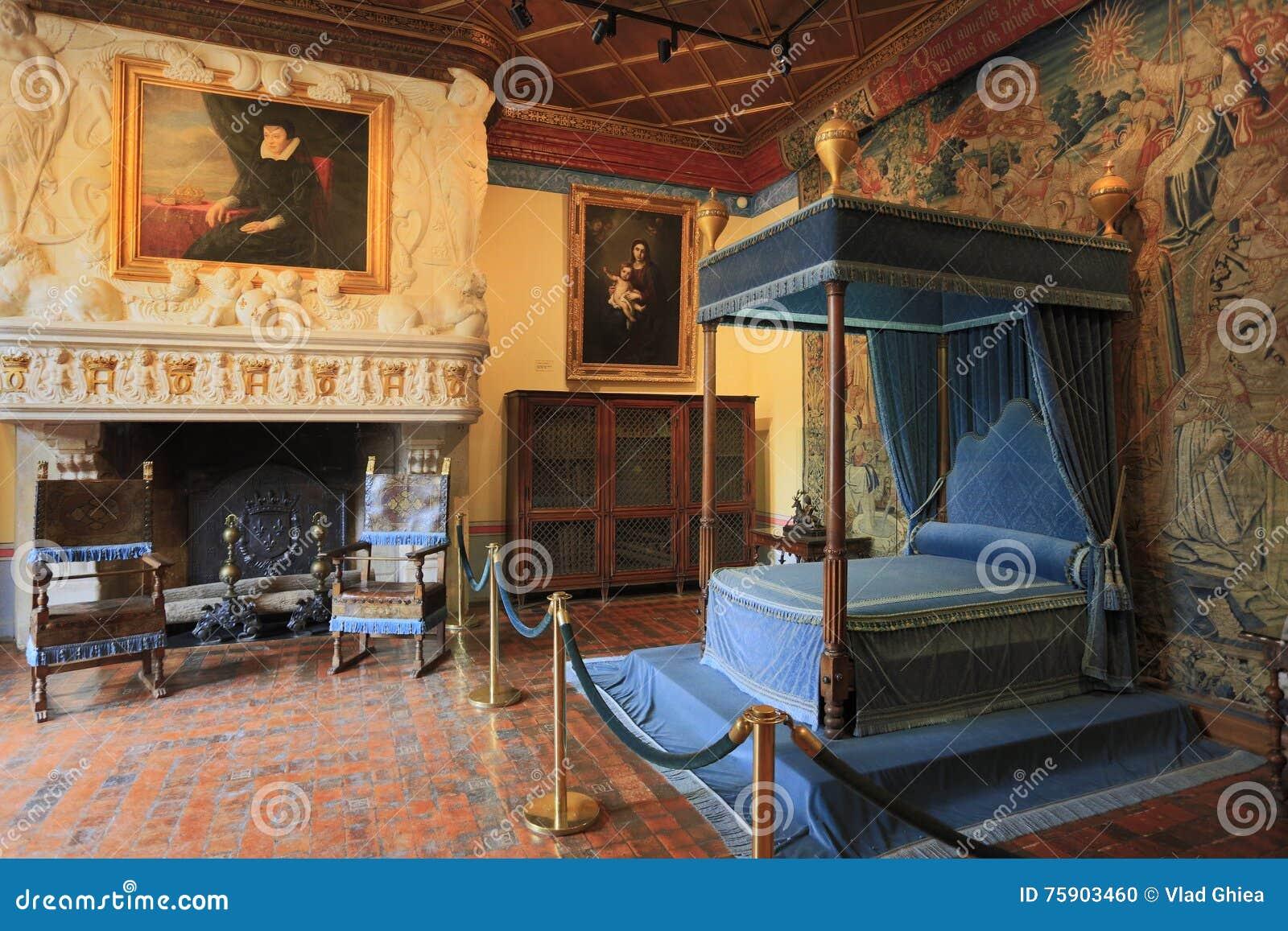 Das Chateau De Chenonceau, Innenansicht, Frankreich Redaktionelles ...