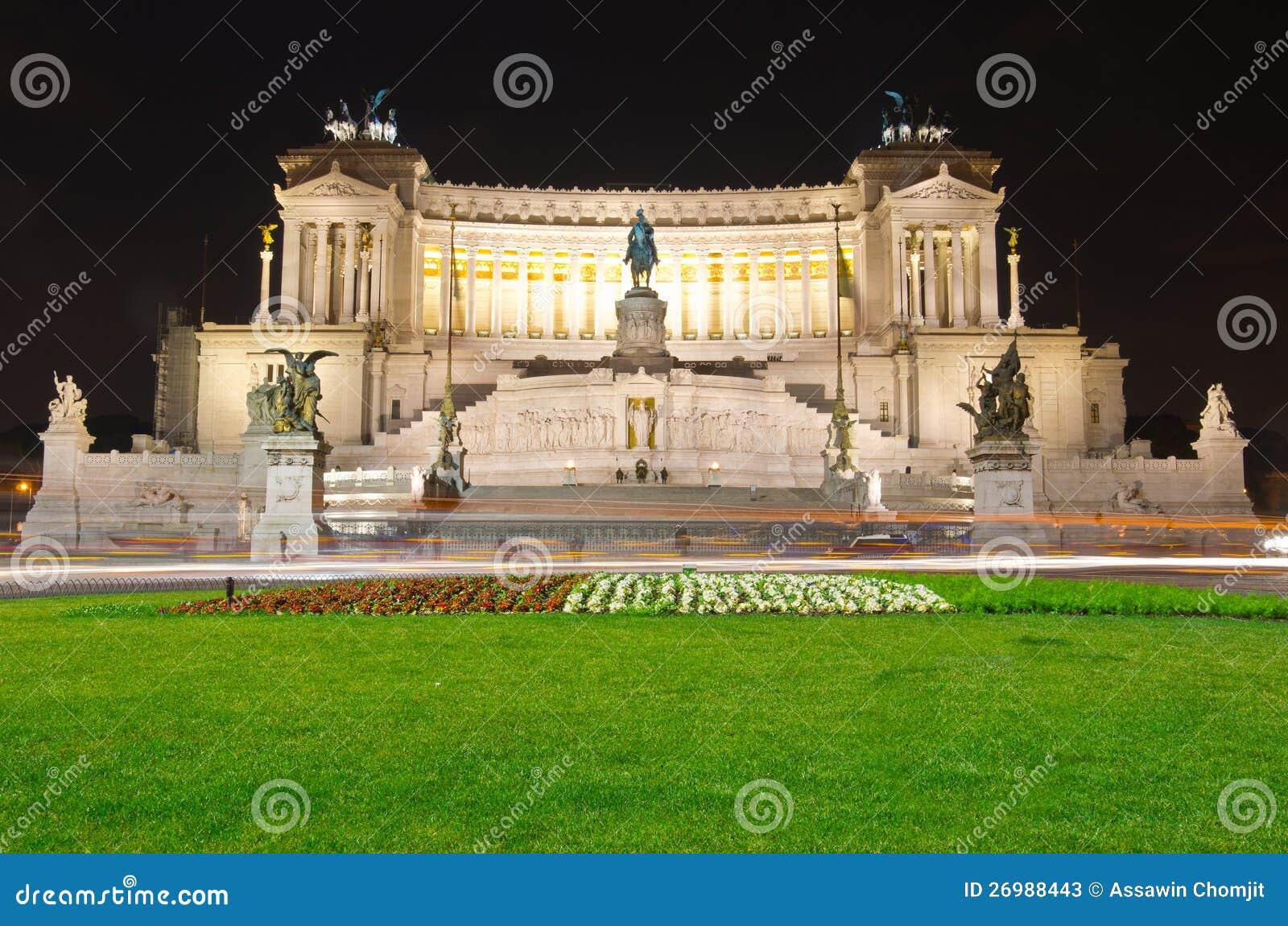 Das Denkmal des Siegers Emmanuel und des Venedig-Quadrats