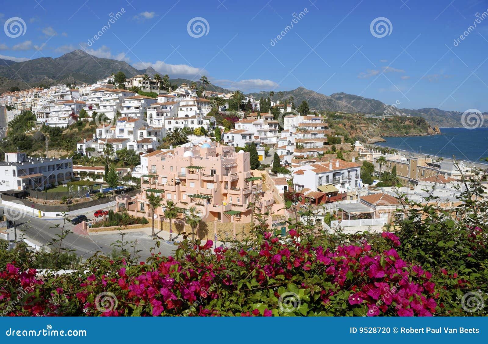 Das Dorf von Nerja in Spanien