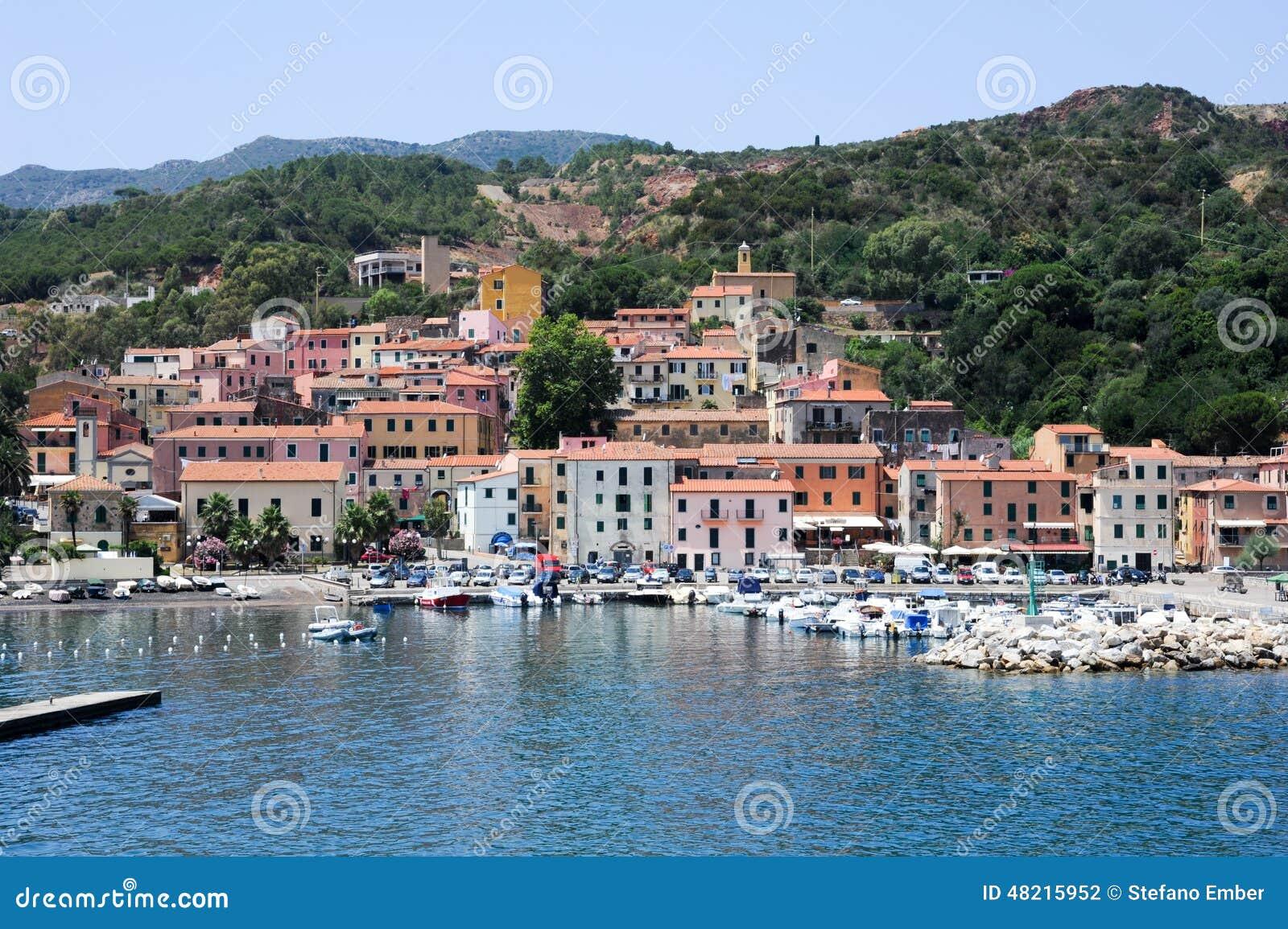 Das Dorf von Rio Marina auf Elba-Insel, Italien
