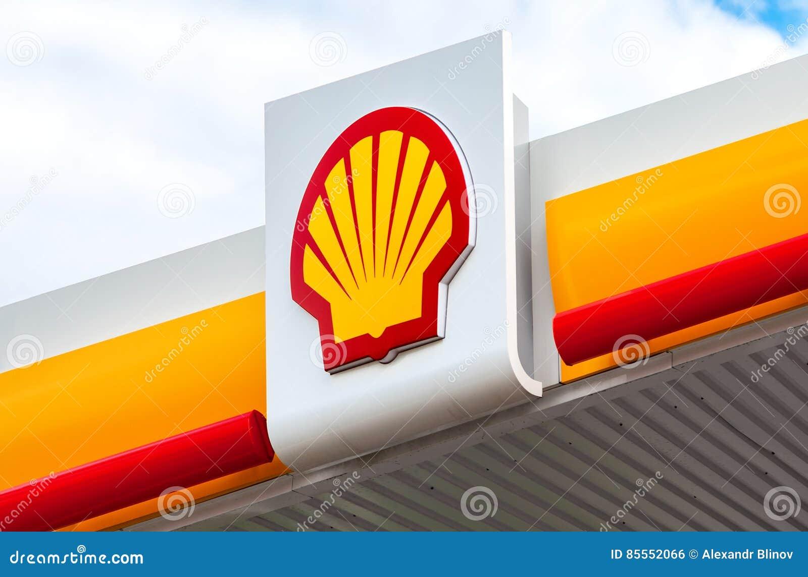 Das Emblem des Royal Dutch Shell Ölkonzerns