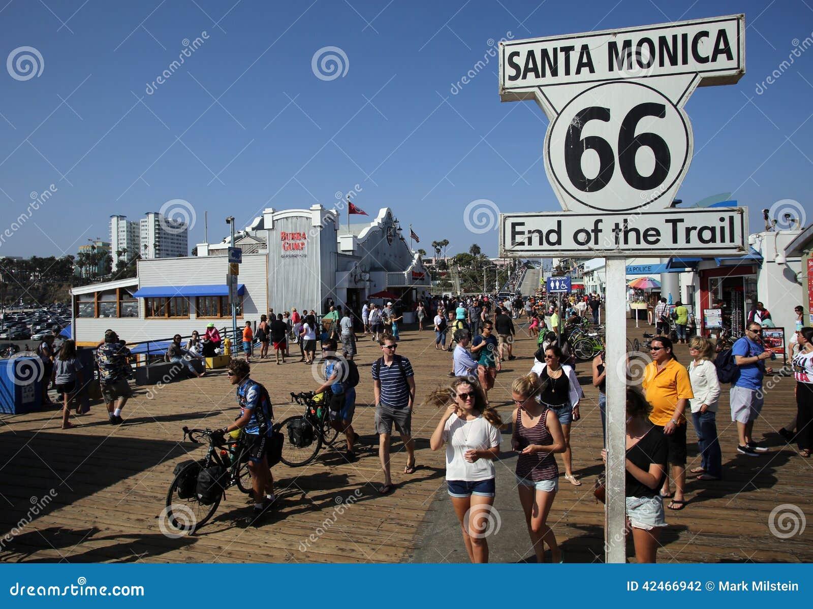 DAS ENDE VON ROUTE 66 IN SANTA MONICA, KALIFORNIEN