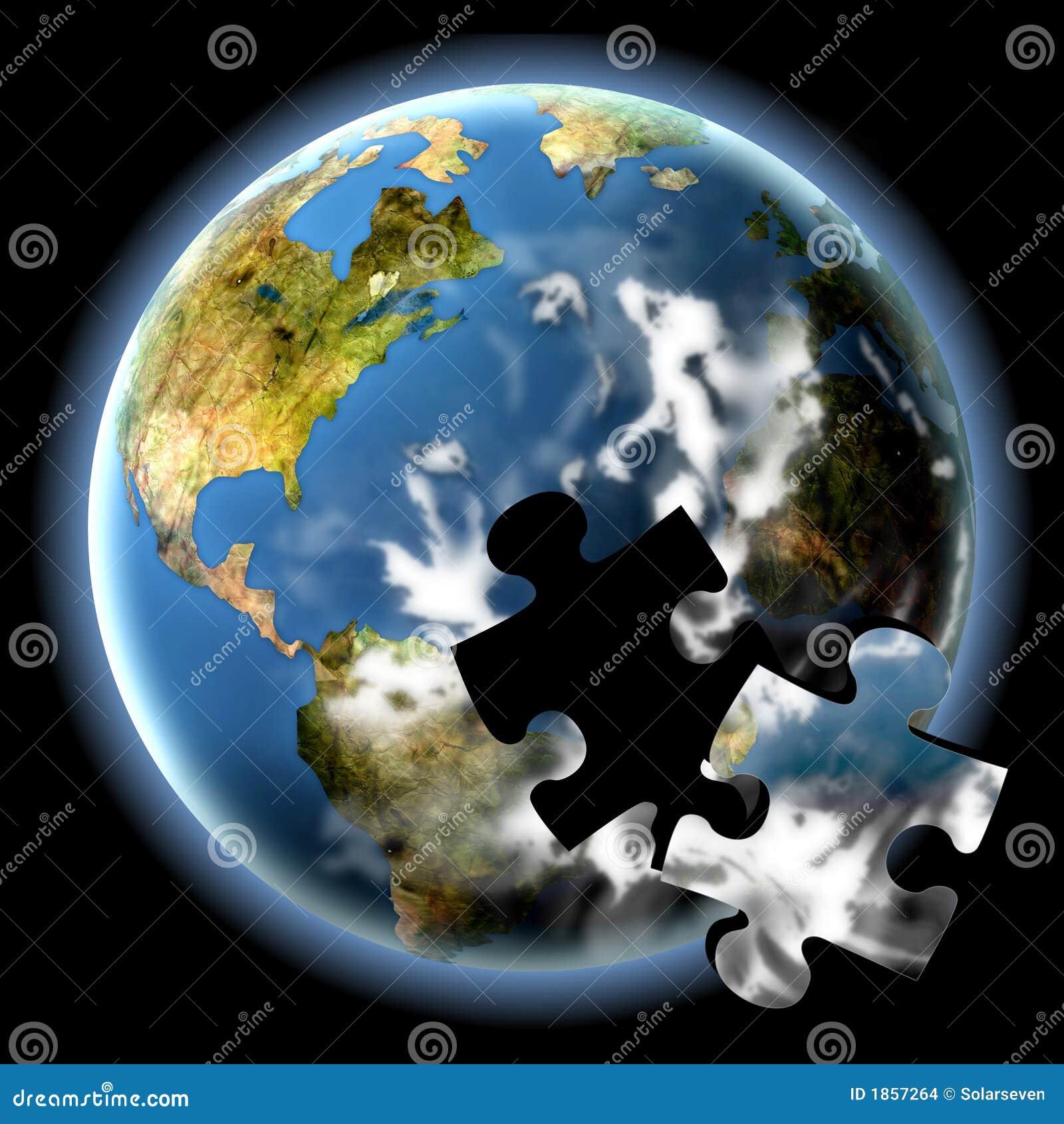 Das Erde-Puzzlespiel