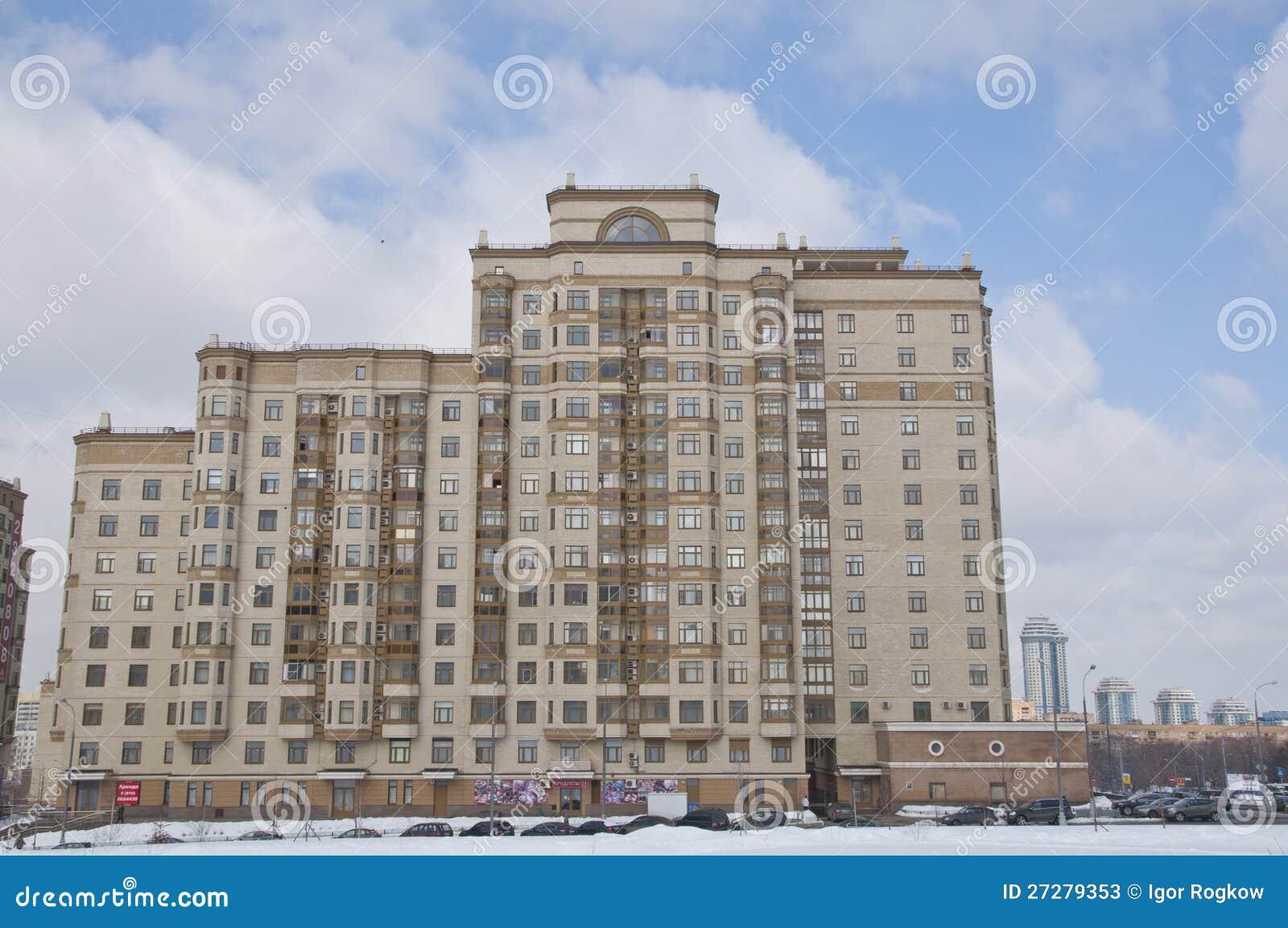 Das Fassaden-Wohnung in einem hohem Gebäudeshaus