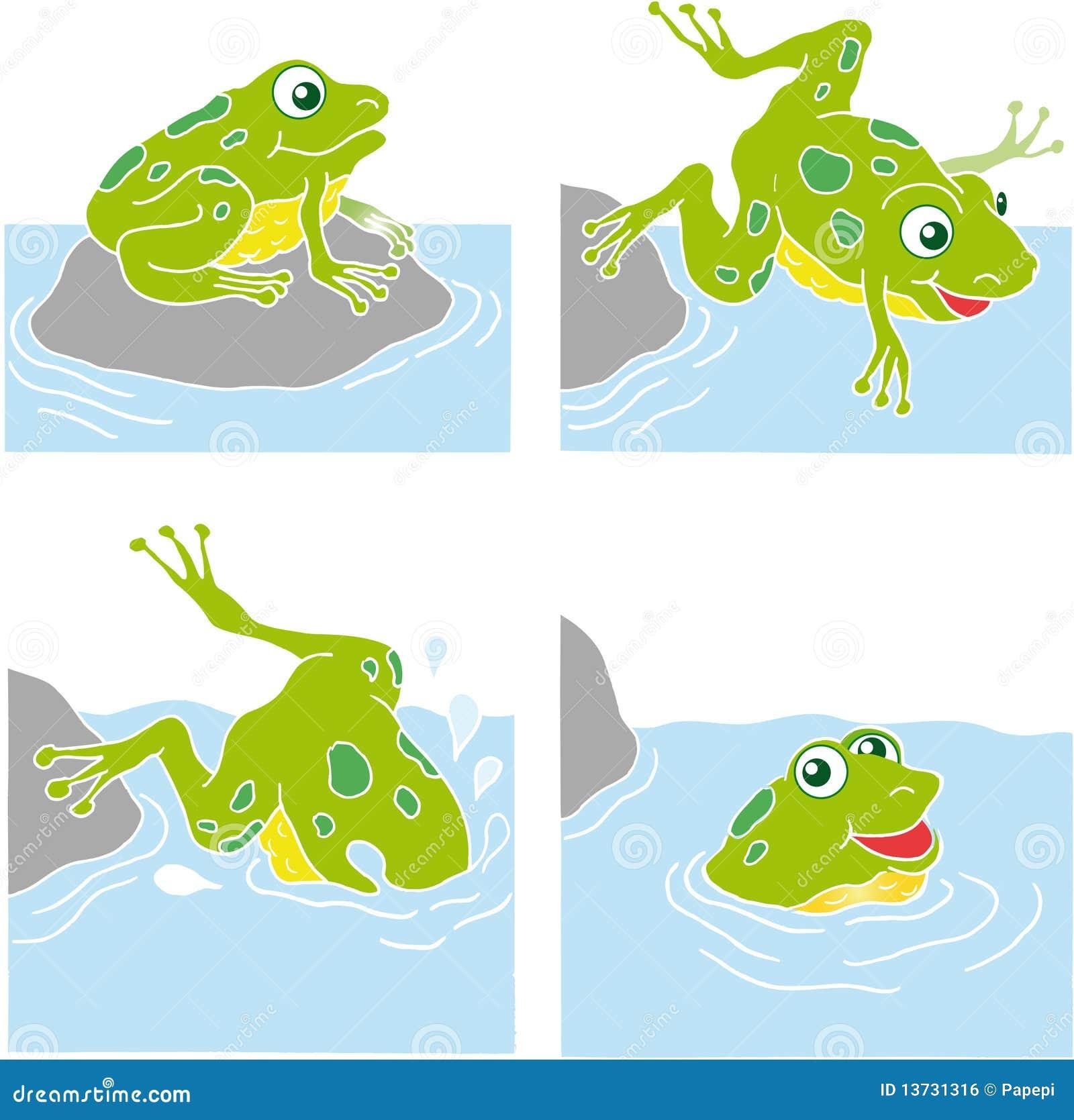 Jumping frog clip art