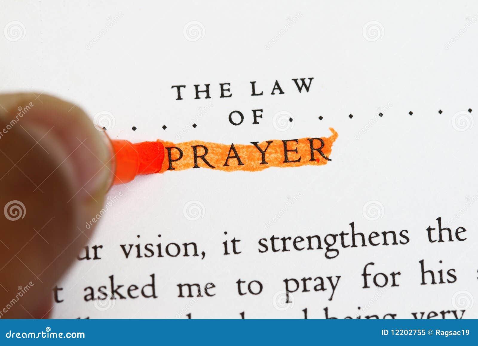 Das Gesetz des Gebets