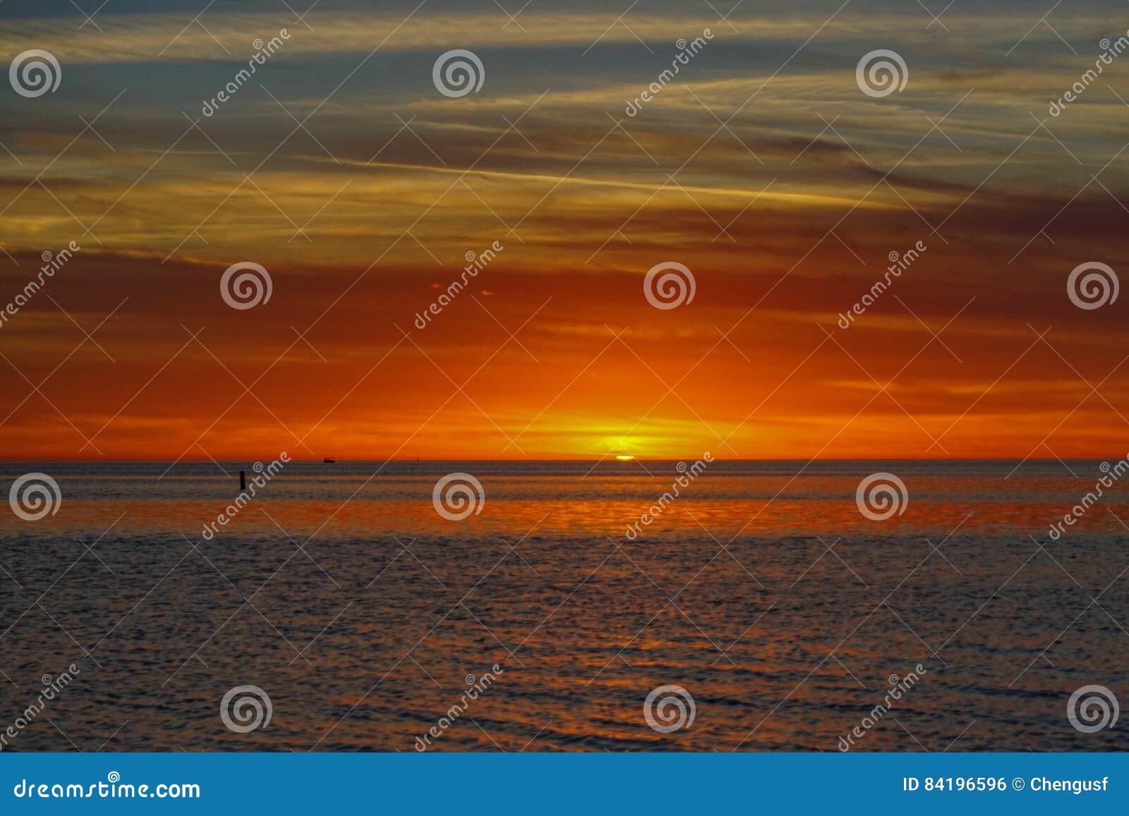 Das Golf- von Mexikosonnensatz
