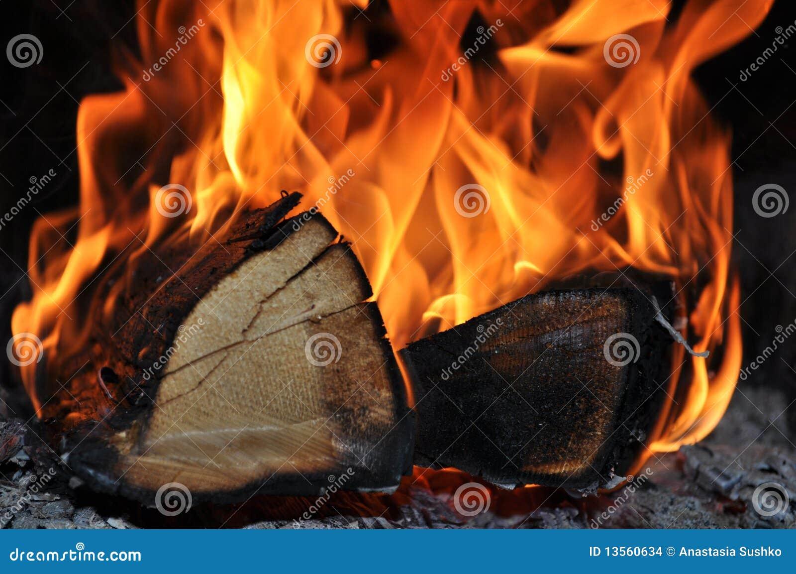 das holz brennt auf feuer stockfoto. bild von flamme - 13560634