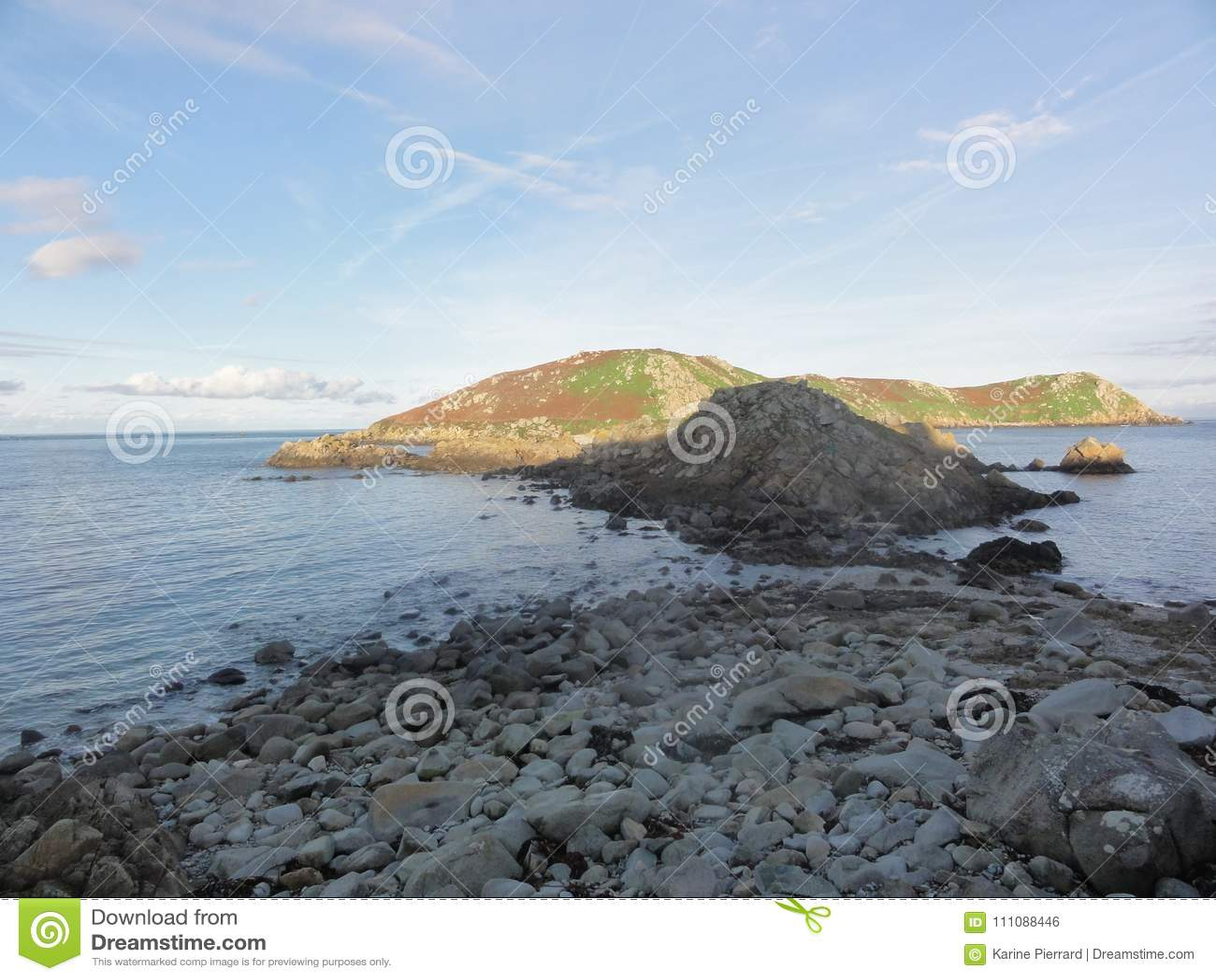 Das Ile Zusatz-Oiseaux - Morbihan - Bretagne - Frankreich