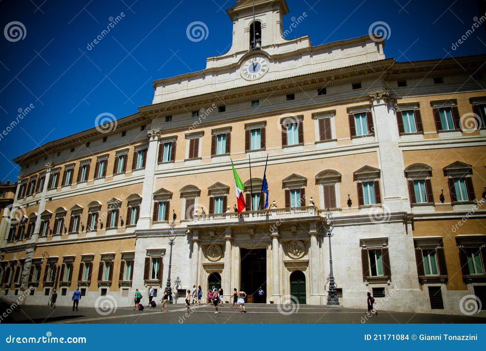 das italienische parlament redaktionelles stockbild bild