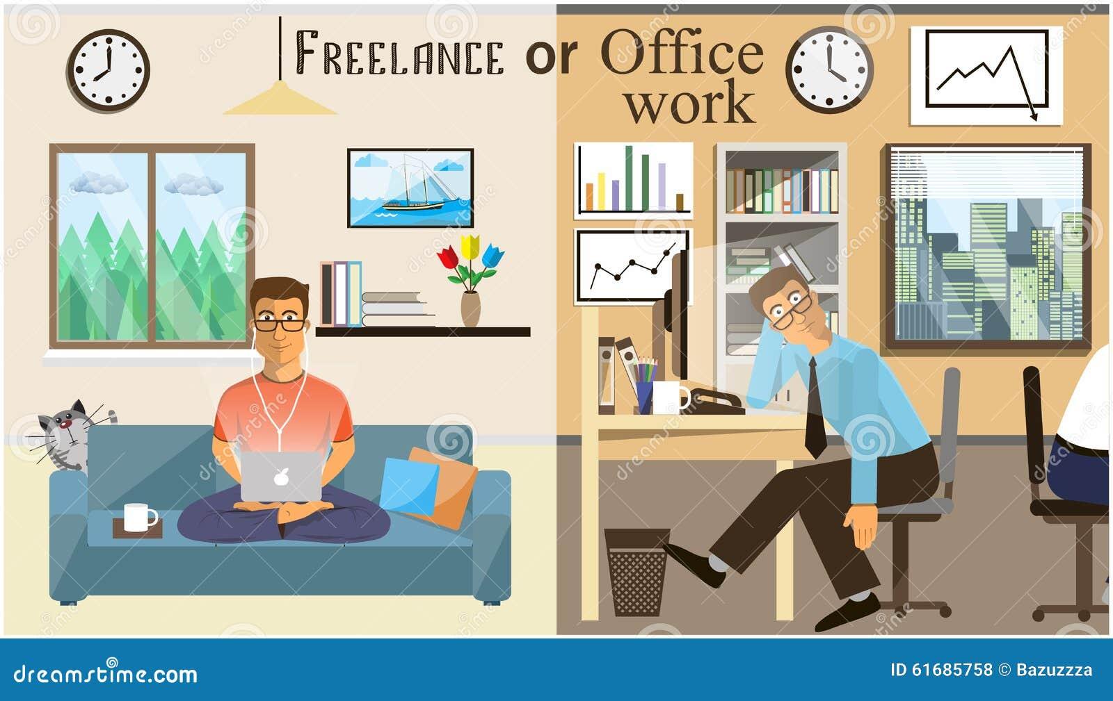 Download Das Konzept Der Büroarbeit Und Des Freiberuflich Tätig Seins  Szenen Von Den Leuten, Die