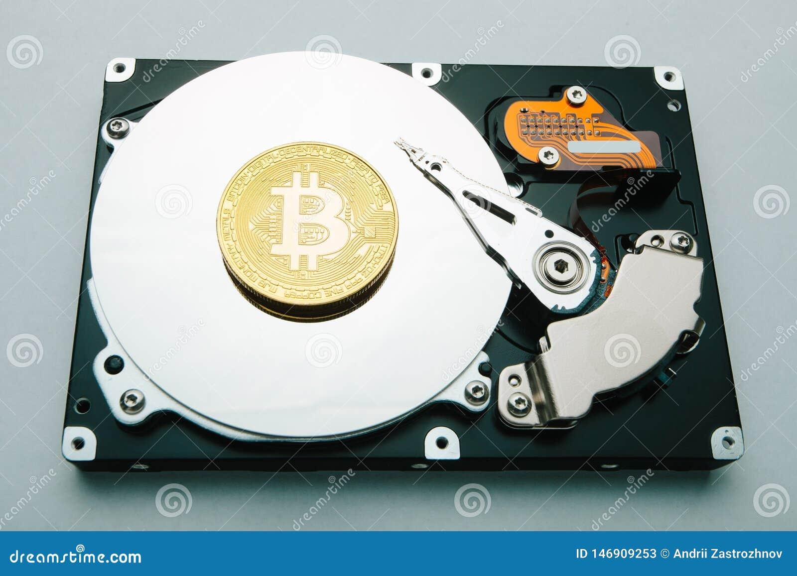 Das Konzept des Bergbaus und Lagerung von Schlüssel-strom bitcoin