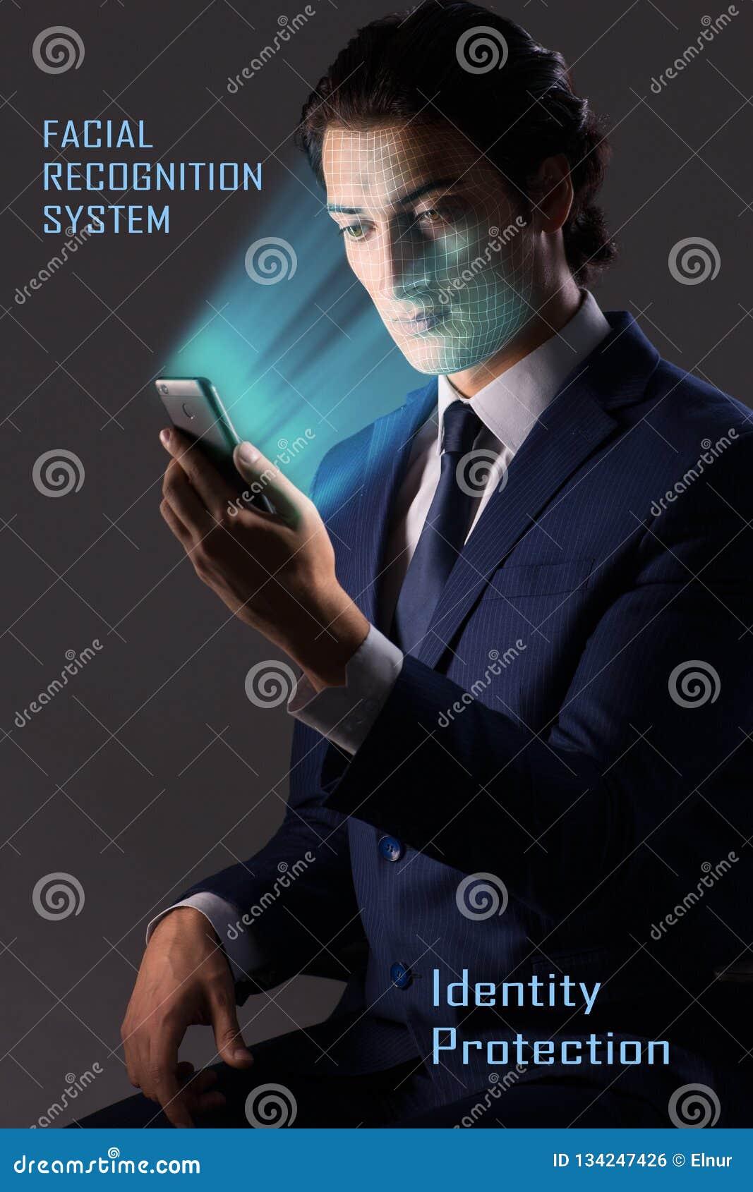Das Konzept von Gesichtserkennungs-Software und -hardware