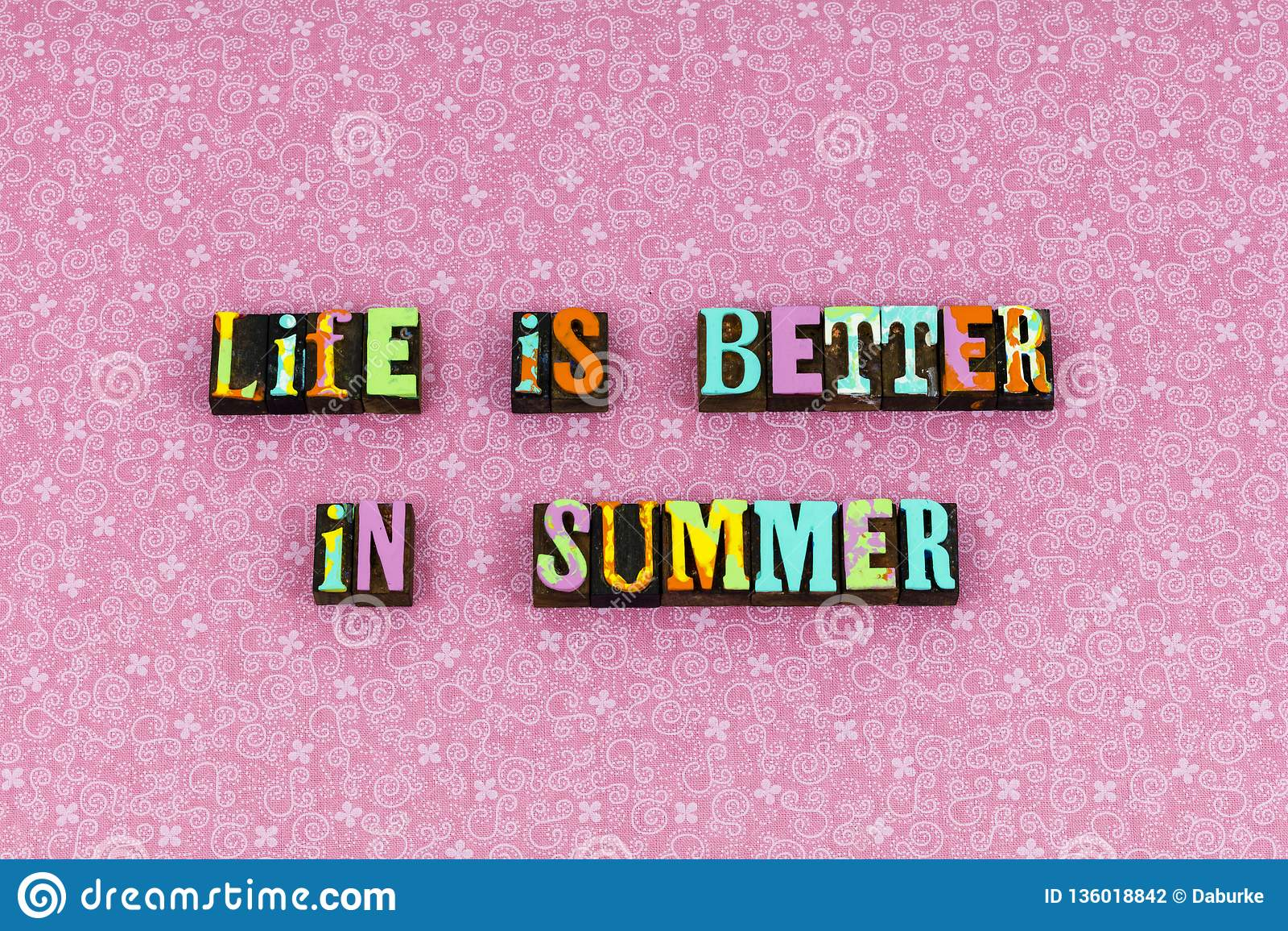 Das Leben verbessern Sommer zu leben, Briefbeschwerer zu genießen