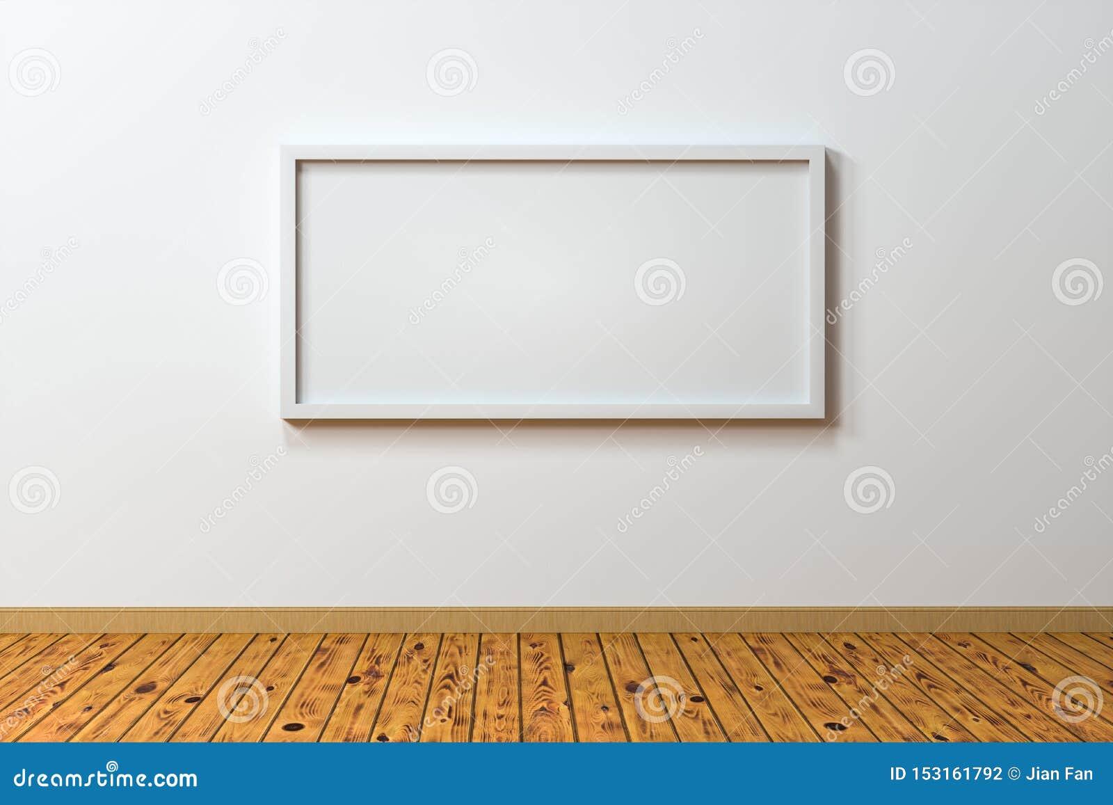 Das leere Gestellbrett mit Bretterbodenhintergrund, Wiedergabe 3d