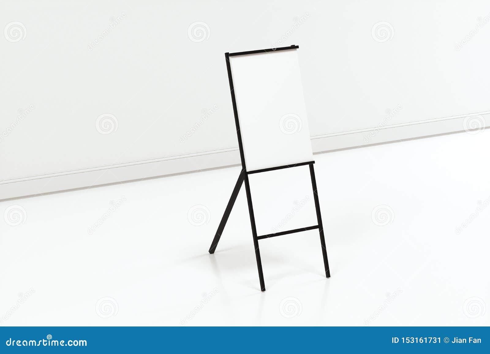 Das leere Gestellbrett mit weißem Hintergrund, Wiedergabe 3d