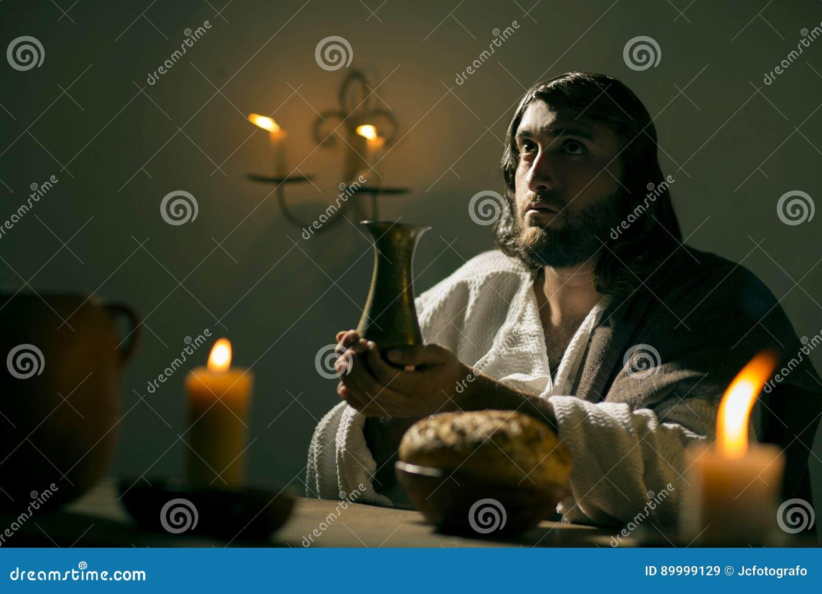 Das Letzte Abendessen Von Jesus Christ Stockbild - Bild von ...