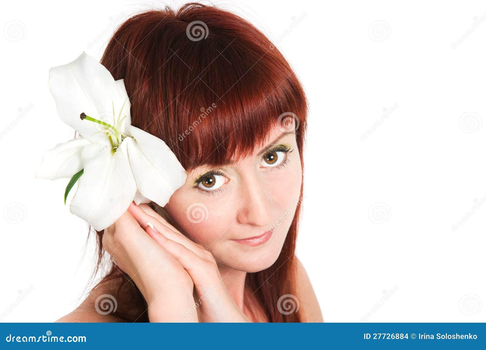 Das Mädchen mit einer Lilienblume