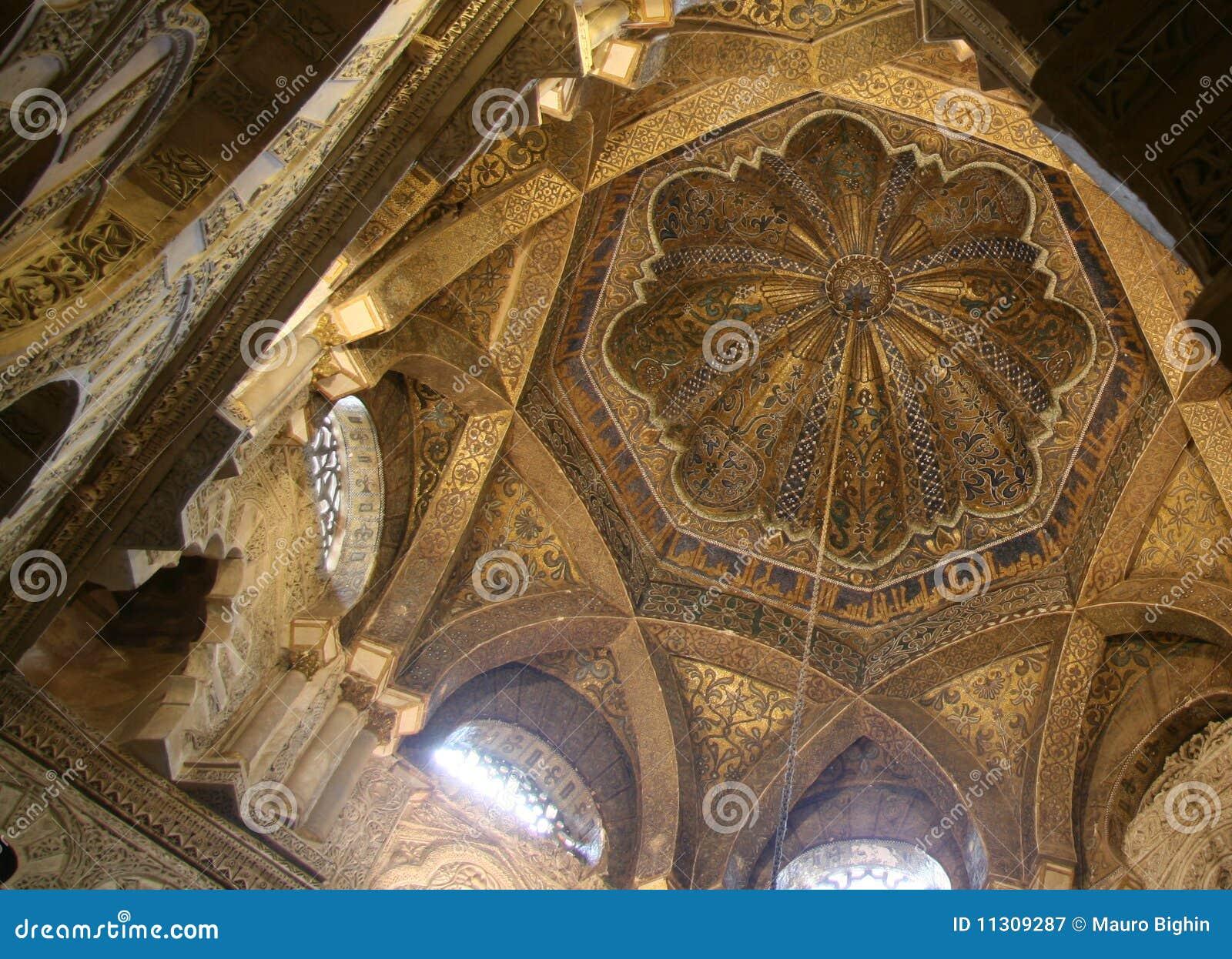 Das Mirhab, arabische Haube an der Cordoba-Kathedrale