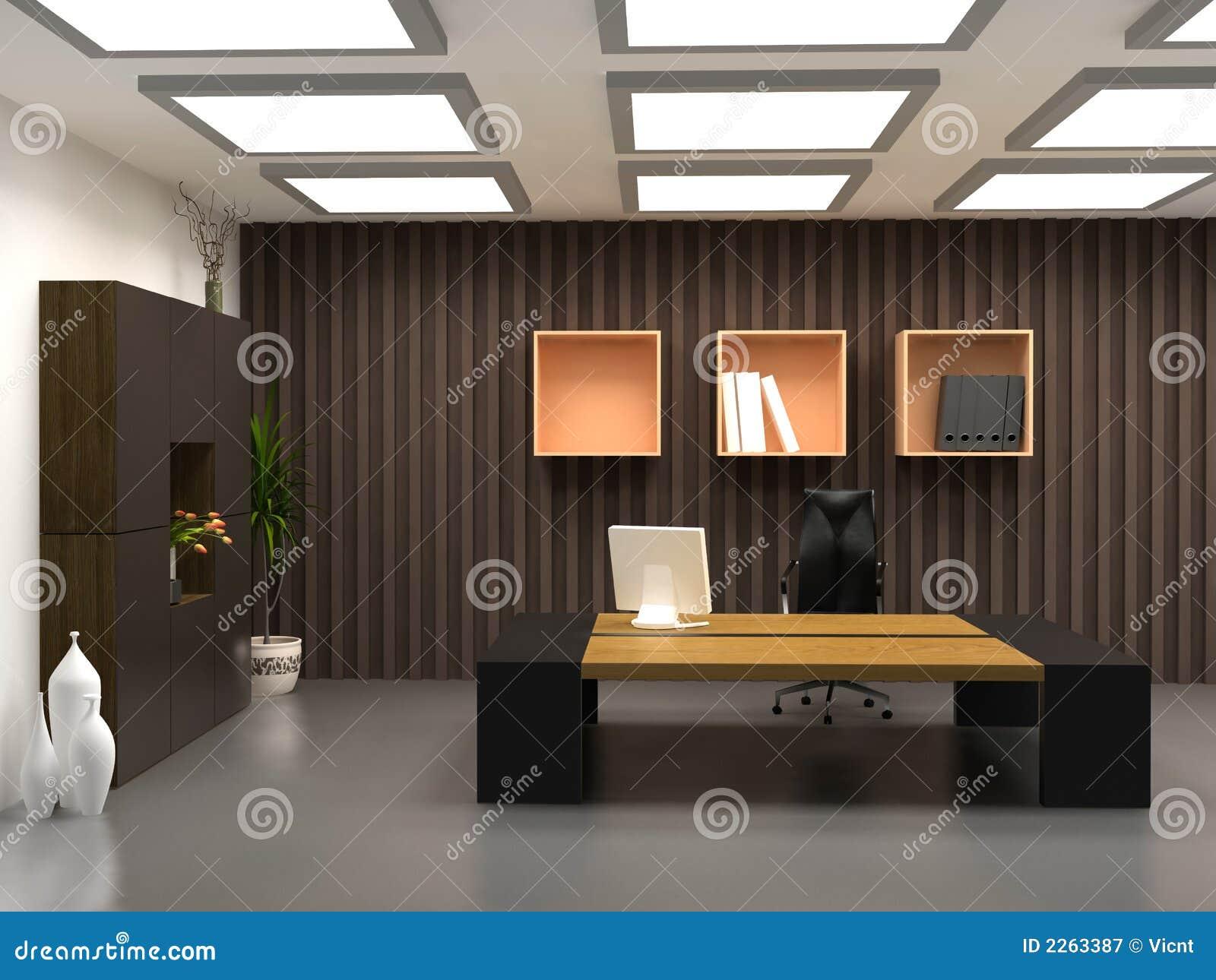 Das moderne Büro stockbild. Bild von möbel, arbeit, tabellen - 2263387