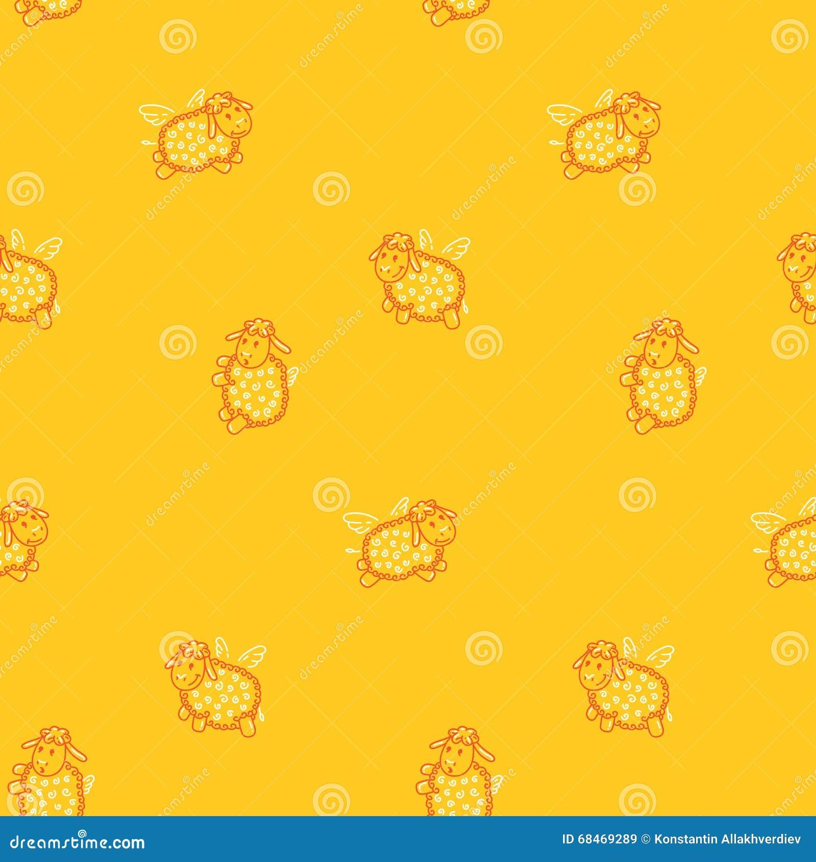 Das Muster Der Kinder Mit Tieren Vektor Abbildung Illustration Von