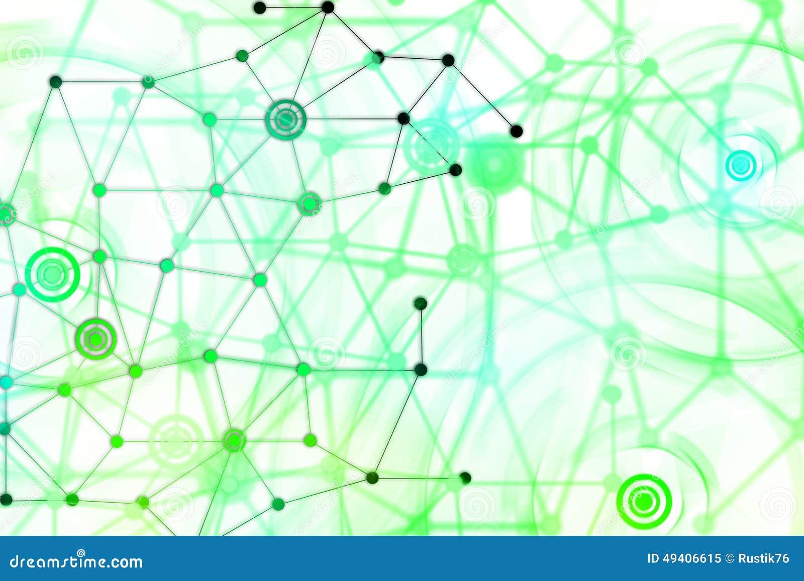 Download Das Netz Von Punkten Auf Einem Weißen Hintergrund Stock Abbildung - Illustration von hintergrund, digital: 49406615
