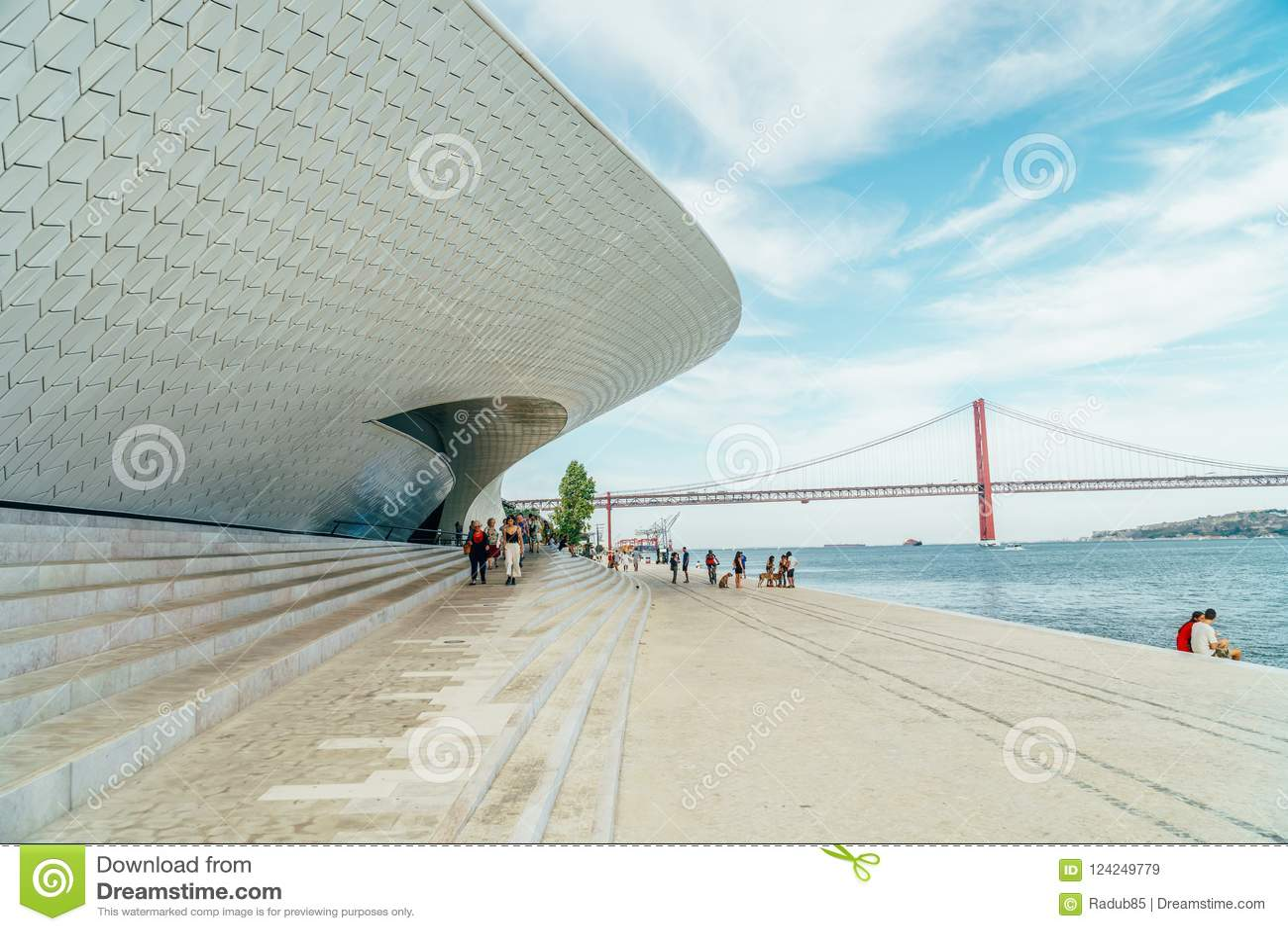 Das neue Kunstmuseum, die Architektur und Technology Museu de Arte, das Arquitetura e Tecnologia oder das MAAT