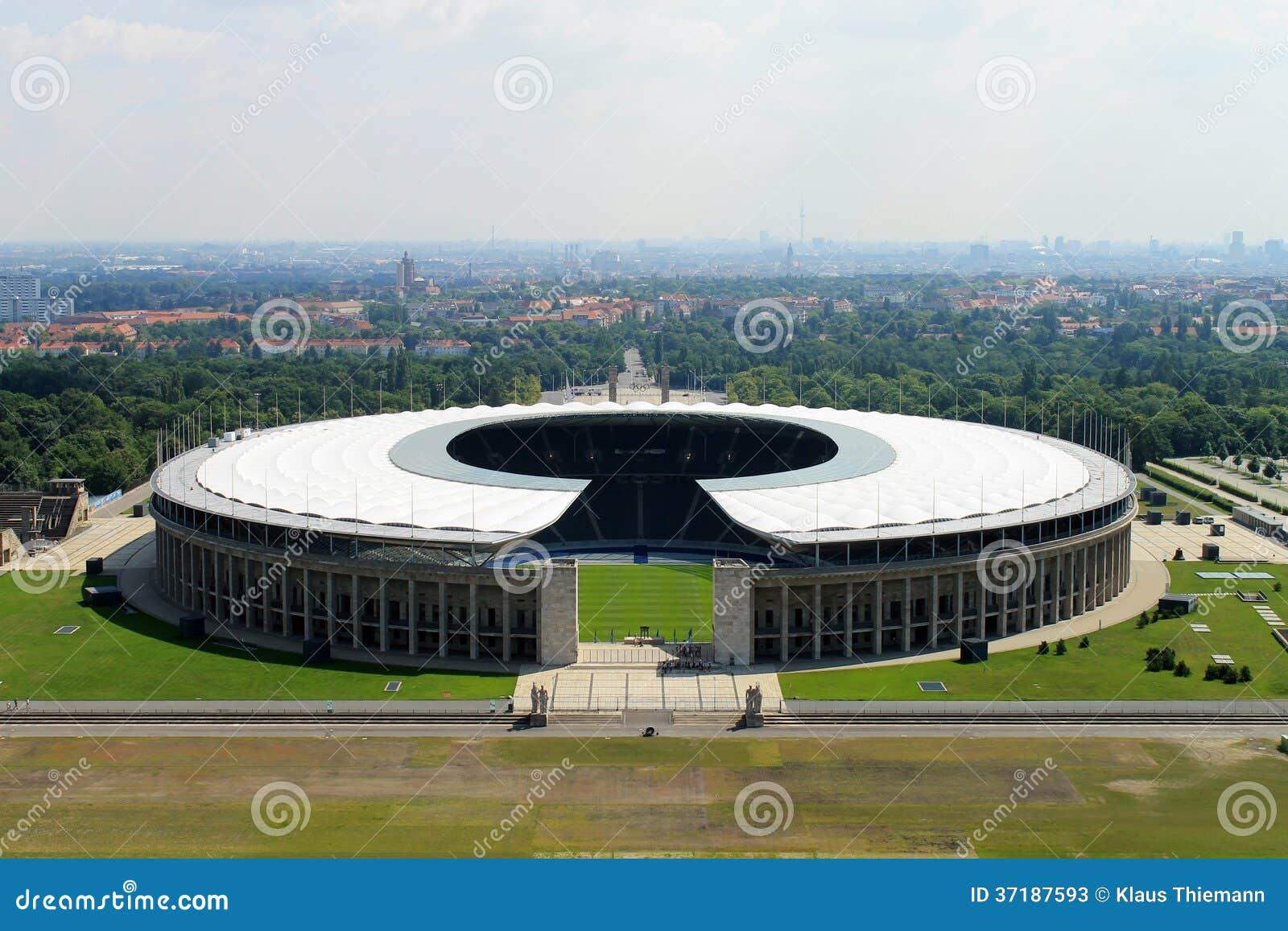 Das Olympiastadion von Berlin.