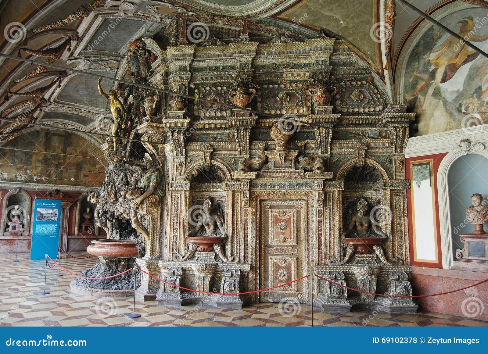Das Perseusbrunnen Am Grotten Gericht Des Residenzmuseum In München