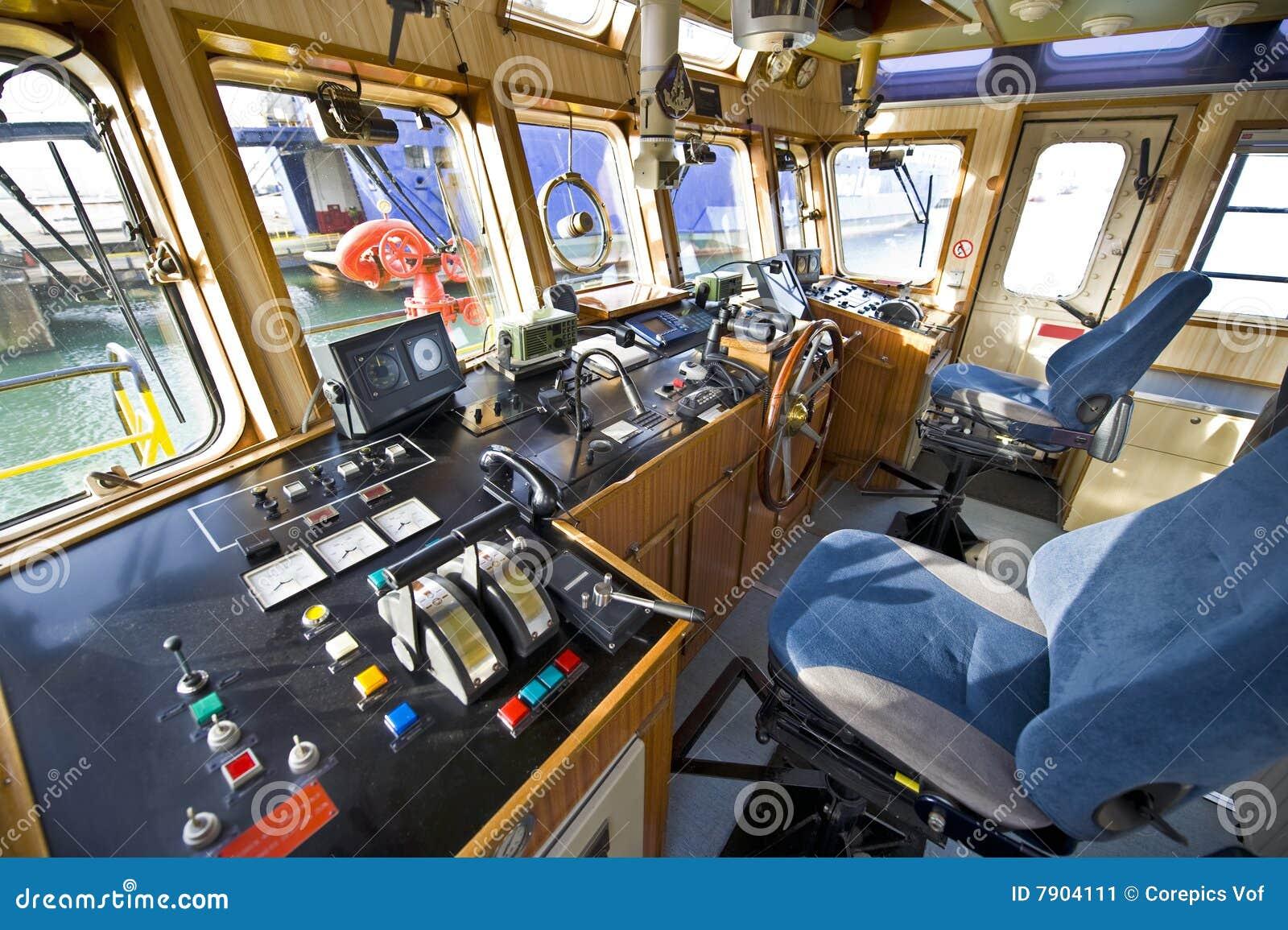 das radhaus eines feuerbootes stockbild bild von st hle marine 7904111. Black Bedroom Furniture Sets. Home Design Ideas