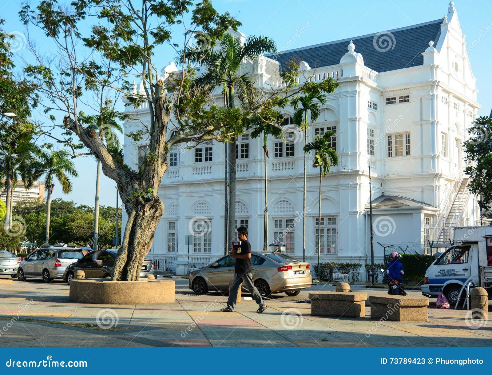 Das Regierungs-Gebäude am Stadtzentrum in Penang, Malaysia