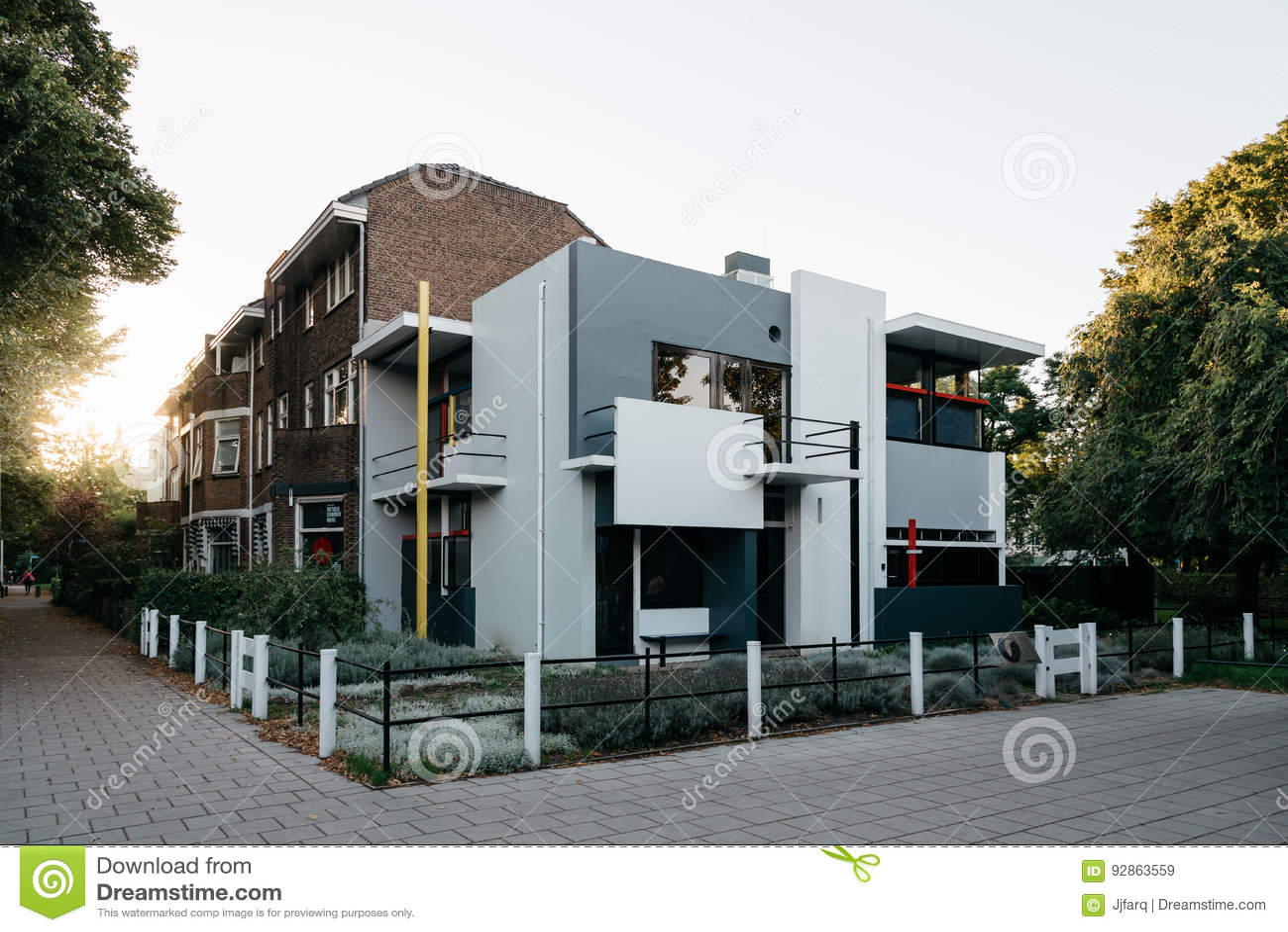 Das Schroder Haus Durch Gerrit Rietveld In Utrecht Die Niederlande