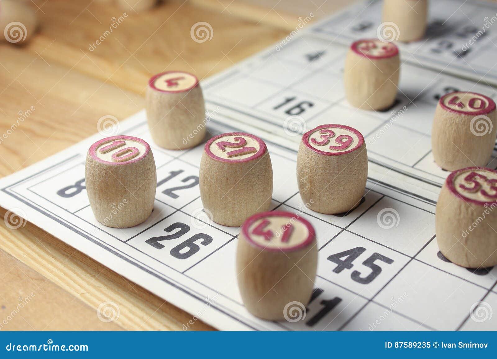 Das Spiel von Bingo stockbild. Bild von kreis, wahrscheinlichkeit ...