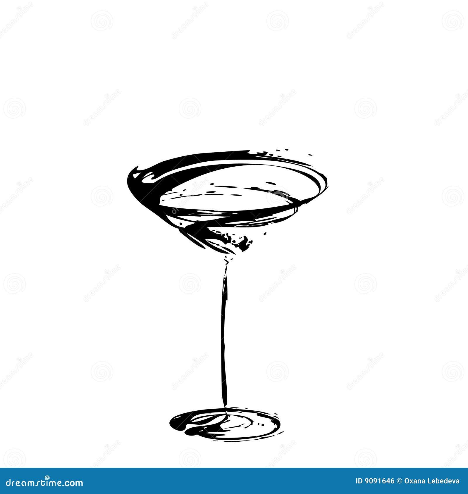 Das stilisiert Weinglas