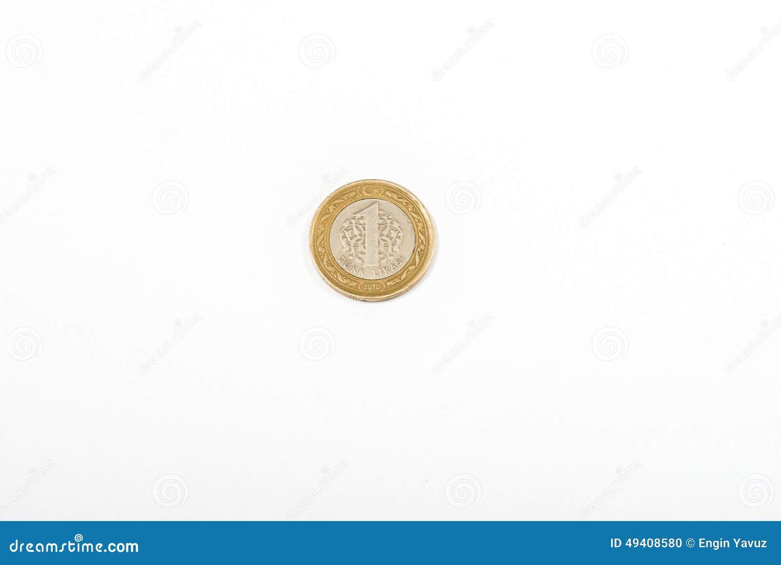 Download Das Türkische 1 Lira stockfoto. Bild von querneigung - 49408580