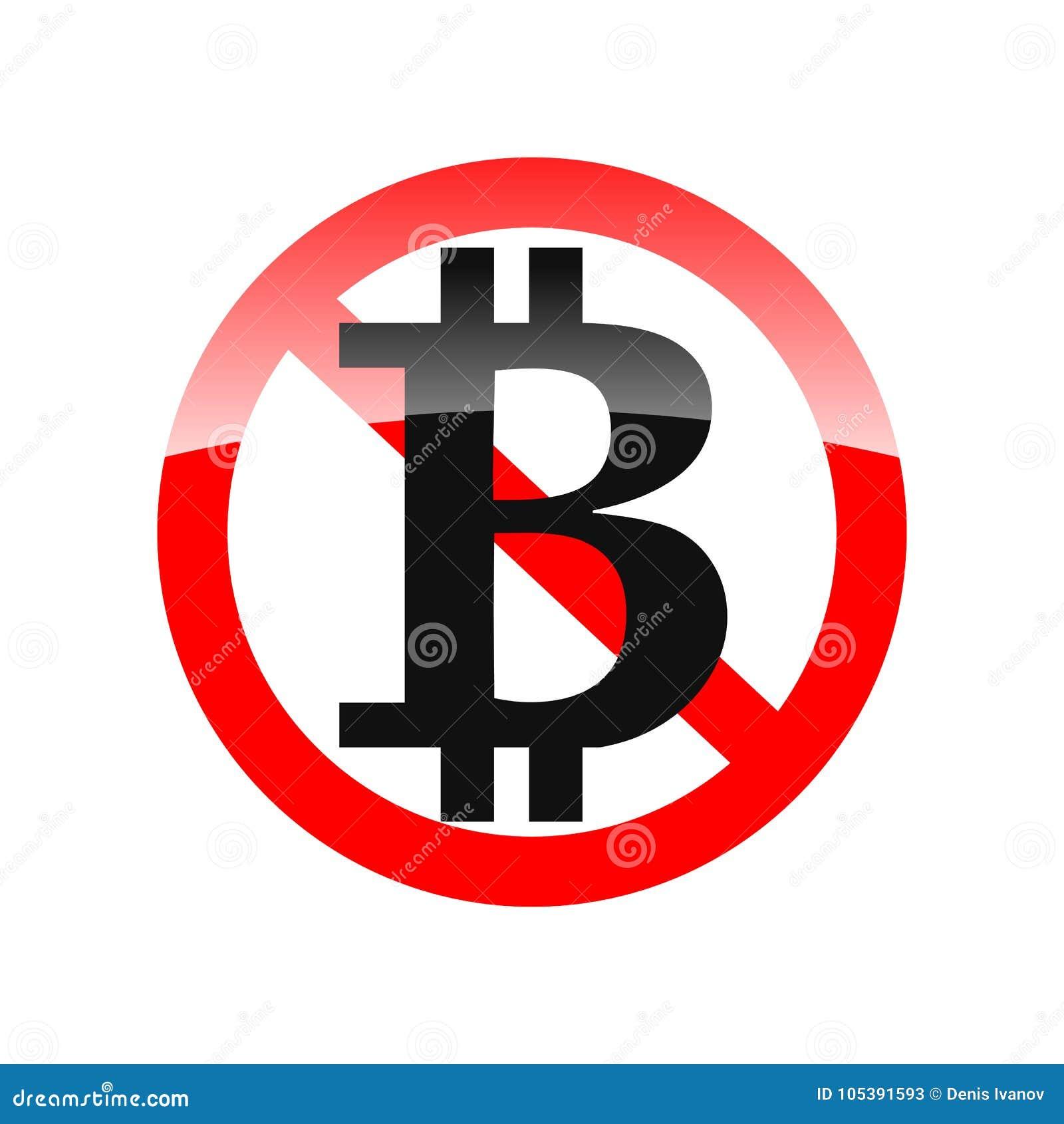 Das Vektor-Zeichen - bitcoin verbot - verboten, um zu verwenden - beschriften Sie B