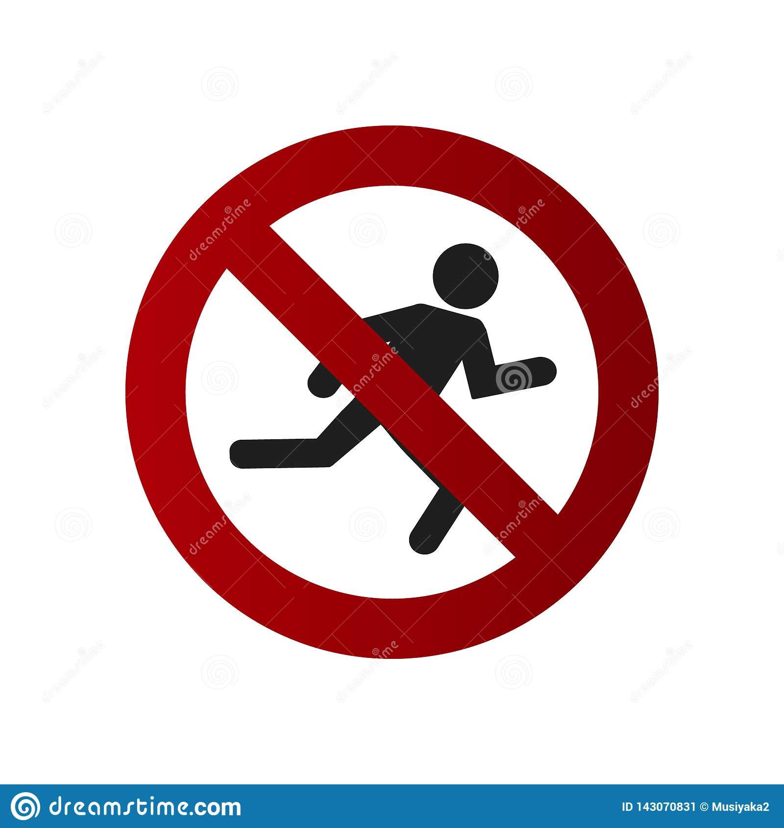 Das Verbot auf Bearbeitung eines geöffneten Feuers Kreuzen Sie nicht die Straße Nicht laufen