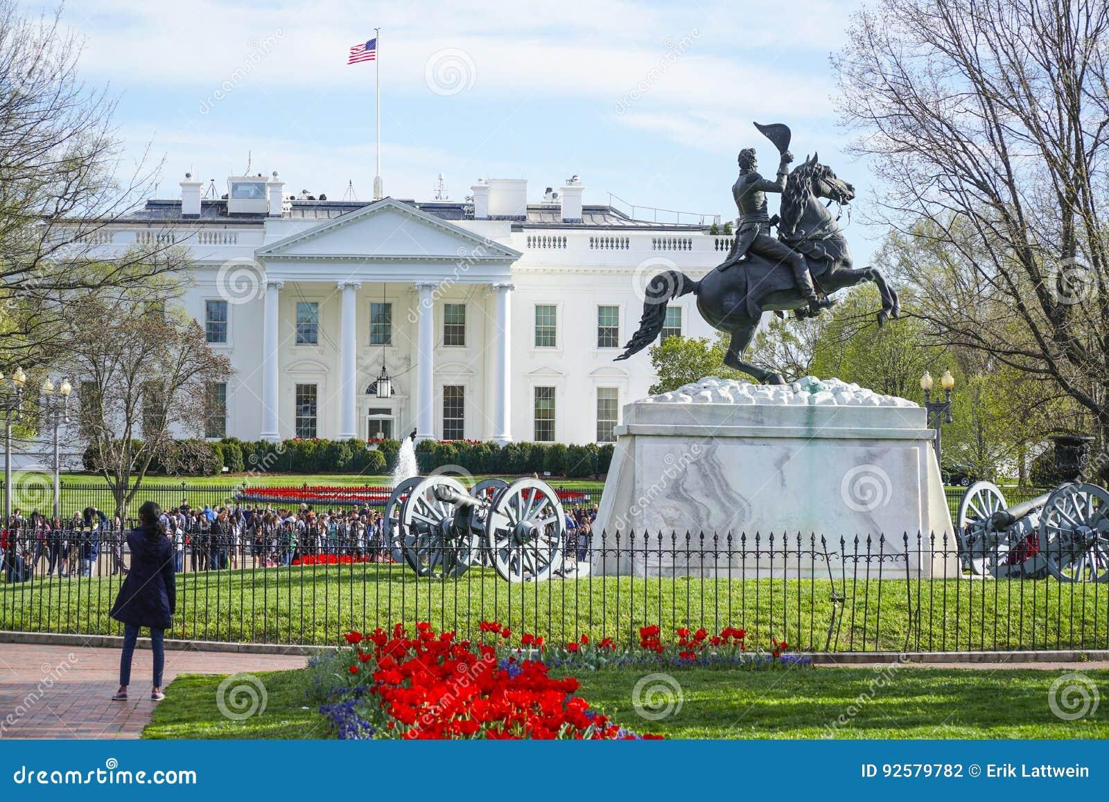 Das Weisse Haus Haus Und Das Buro Des Prasidenten Der Vereinigten Staaten Washington Dc Kolumbien 7 April 2017 Redaktionelles Stockfotografie Bild Von Washington 2017 92579782