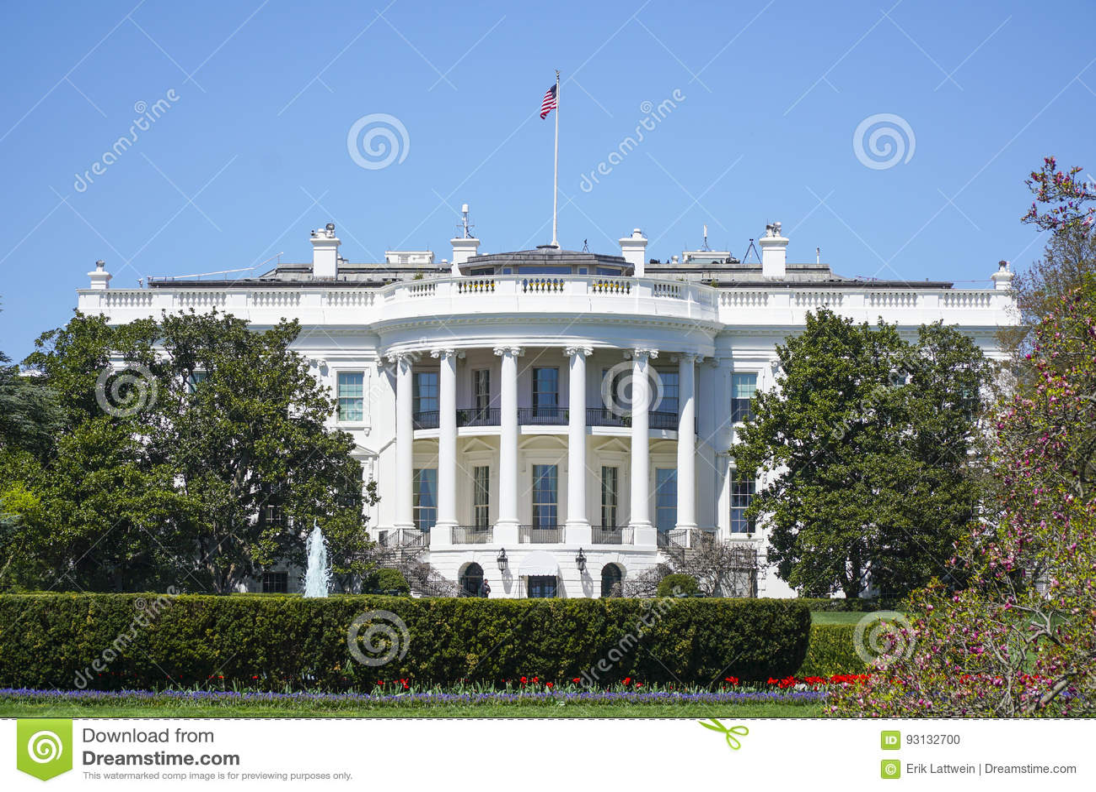 Das Weisse Haus In Washington Ovales Buro Washington Bezirk Columbia 8 April 2017 Stockfoto Bild Von 2017 Washington 93132700