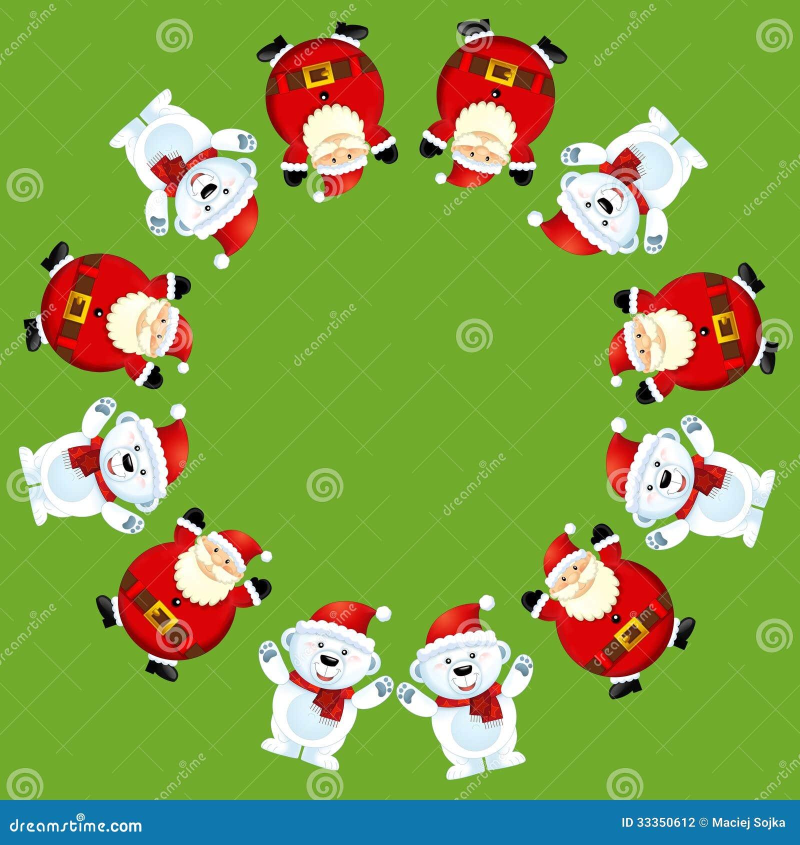 Weihnachtsbilder Tannenzweig.Das Weihnachtsbild Illustration Für Die Kinder Stock Abbildung