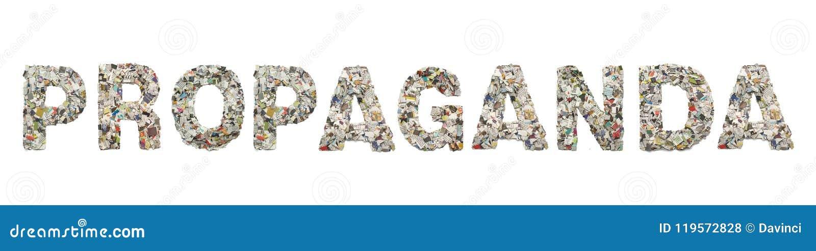 Das Wort PROPAGANDA gemacht von der Zeitung