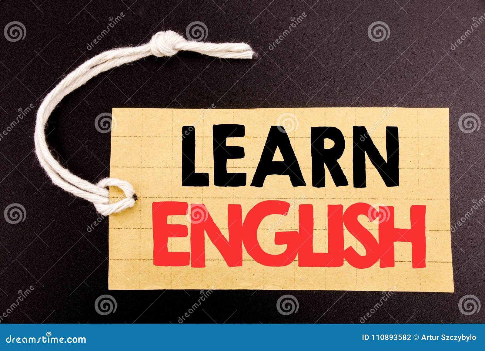 Das Wort, schreibend lernen Englisch Geschäftskonzept für die Online-Verkauf Sprachschule geschrieben auf Preispapier auf der sch