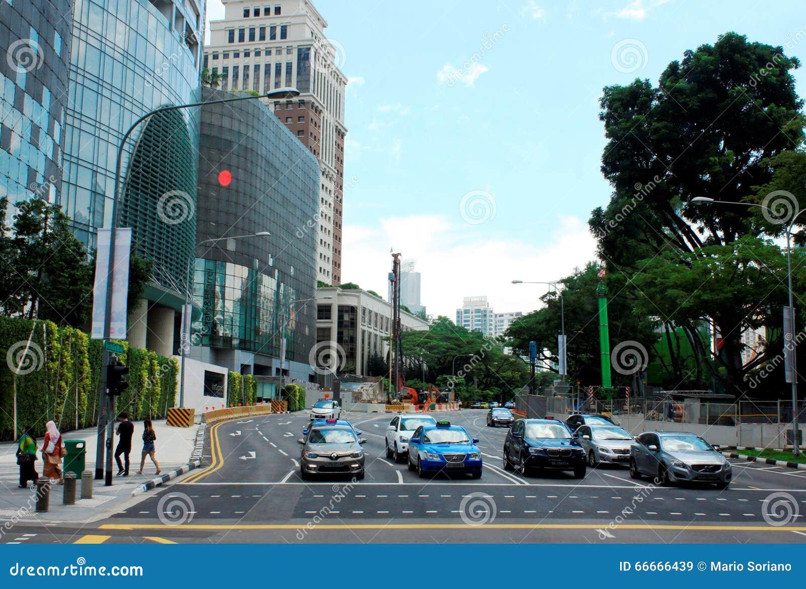 Das zentrale Geschäftsgebiet von Singapur