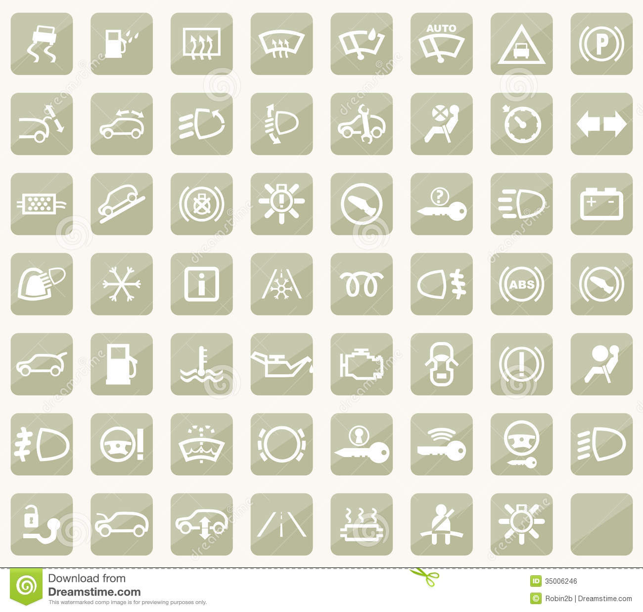 Dashboard Icons Stock Vector Illustration Of Coolant