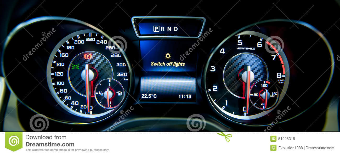 Dashboard Of Mercedes Benz At The Singapore Motorshow