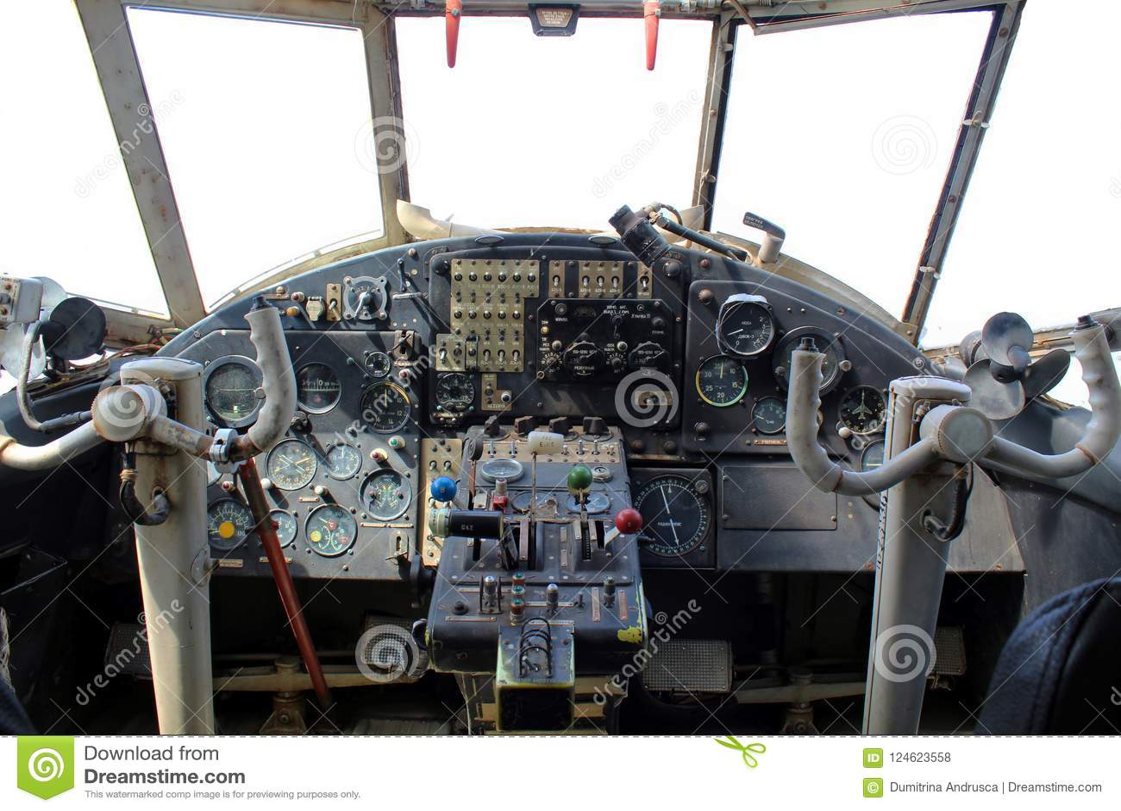 Dashboard oud vliegtuig