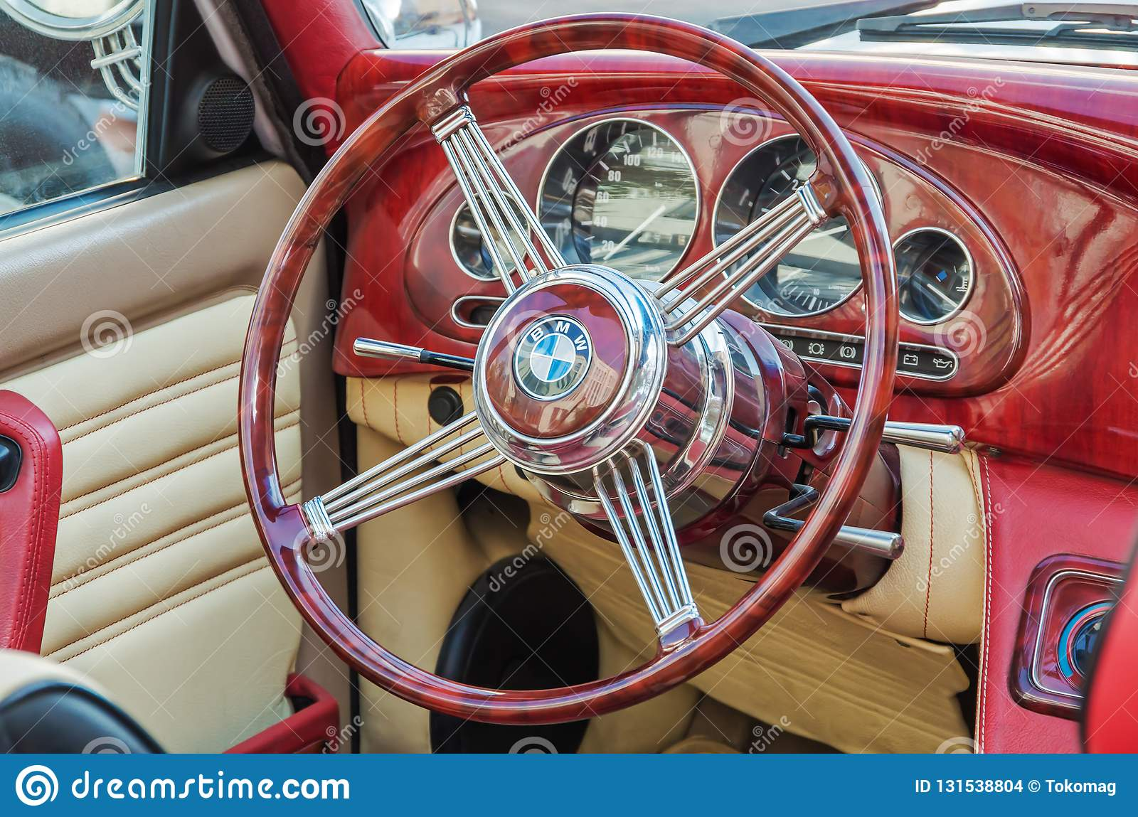 Dashboard And Steering Wheel Of A Vintage Car BMW ... - photo#41