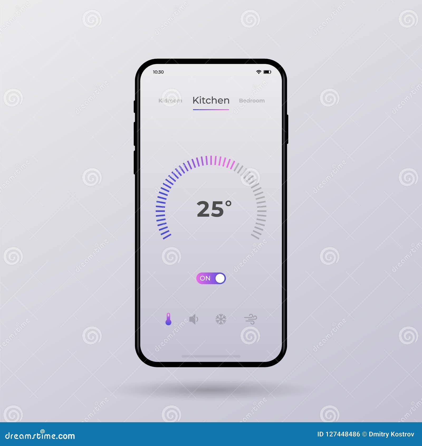 Dashboard UI And UX Kit  Control Center Design  Temperature